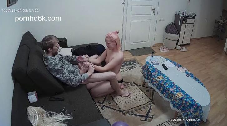Edda and Joe Late Blowjobs and Pussy Eating Voyeur House Sex Video