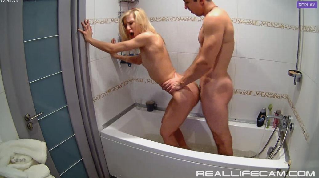 RealLifeCam Nelly and Bogdan Passionate Sex in Shower