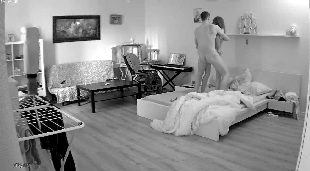 Eva and Sam RealLifeCam Young Couple Midnight Sex in Bedroom
