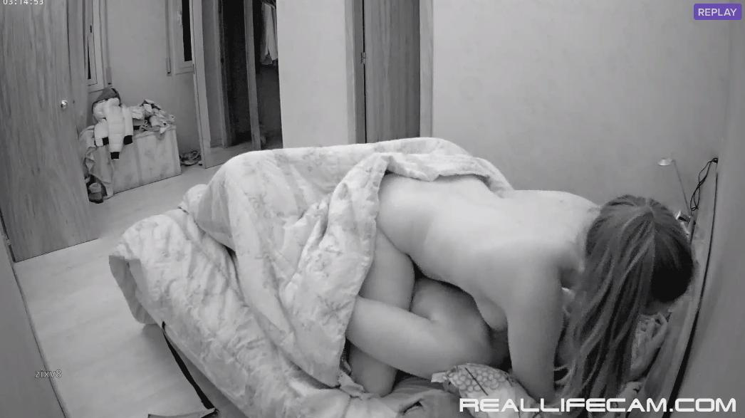 RealLifeCam Martina and Alberto Midnight Perfect Sex in Bedroom