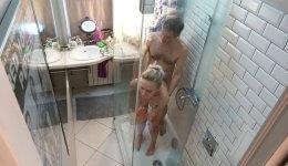 RealLifeCam Asya and Artem Fucked in Bathroom