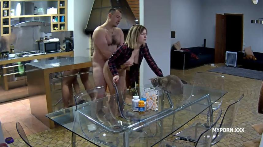 RealLifeCam Chloe and Tyler Hard Fucked in Kitchen