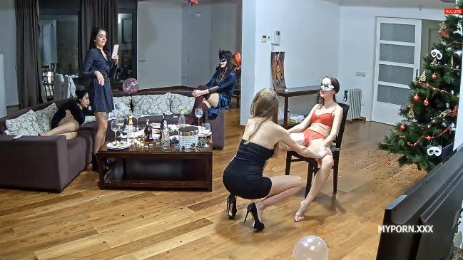Reallifecam Dalia Hot Birthday Party in livingroom