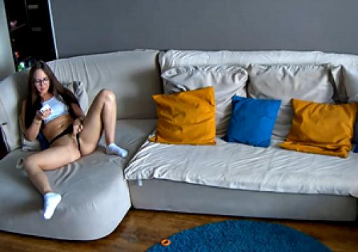 Best!!! Leora RealLifeCam Masturbation in the livingroom