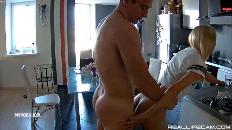 Reallifecam Nelly and Bogdan Intense Sex in Kitchen