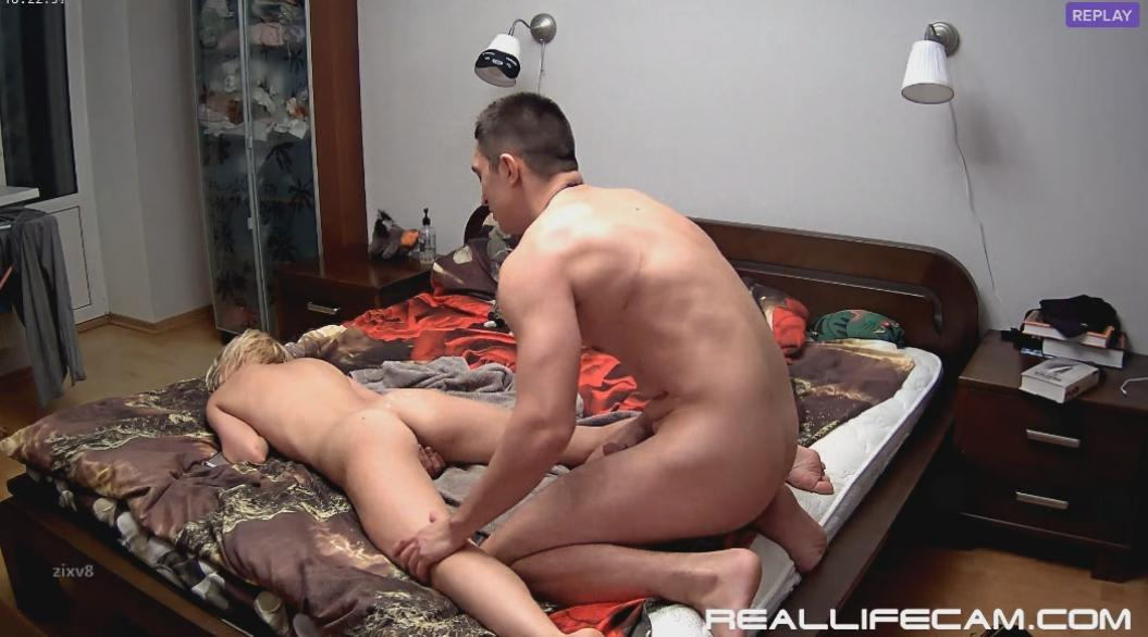 RealLifeCam Nelly and Bogdan Behind Hard Sex in Bedroom