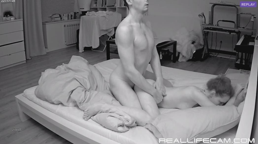 RealLifeCam Eva and Sam Voyeur Anal Sex in Bedroom