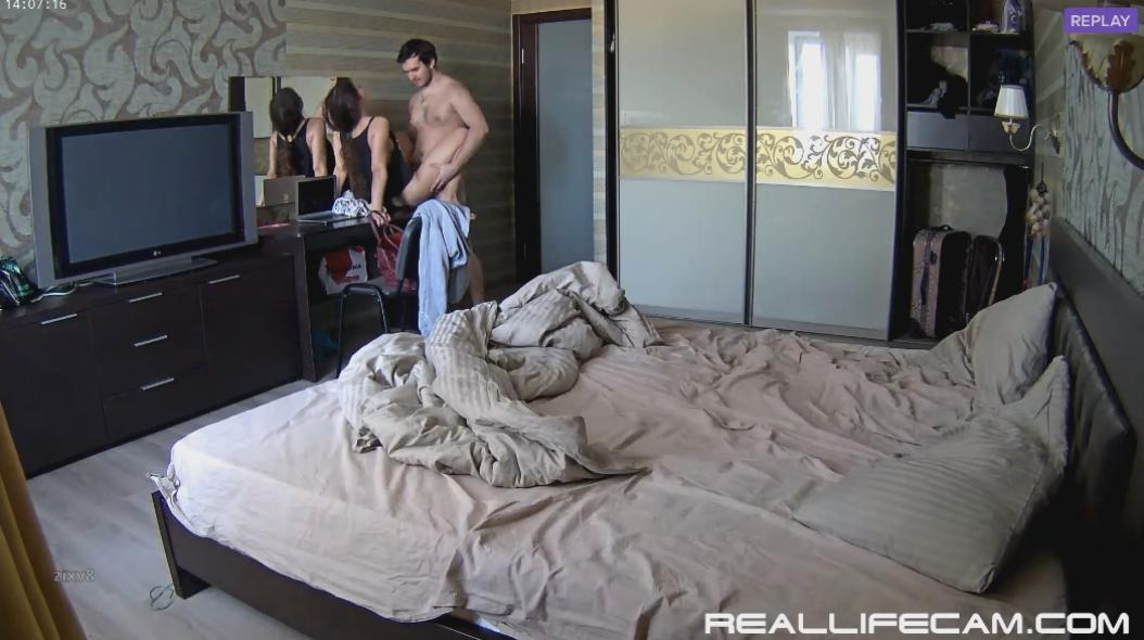 RealLifeCam Lana and Robert Amazing Long Homemade HD Sex in Bedroom