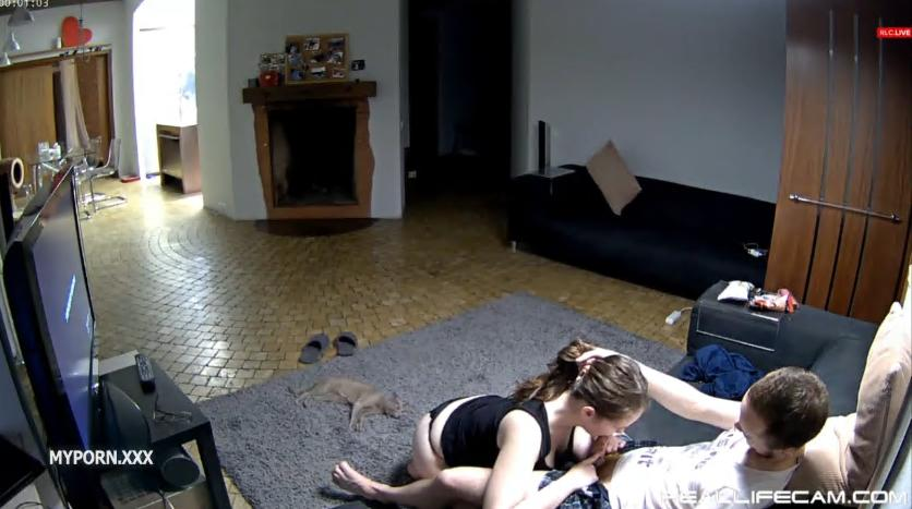 Reallifecam Chloe Guest Couple Sex in living room