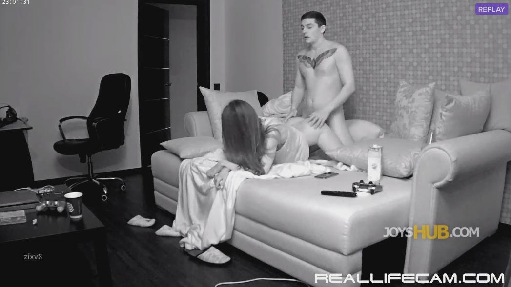 RealLifeCam Adeline and Markus Many Position Nice Fuck in living room