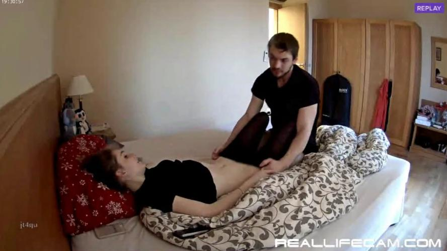 RealLifeCam Julia and Eric Horny Couple Quick Sex in Bedroom