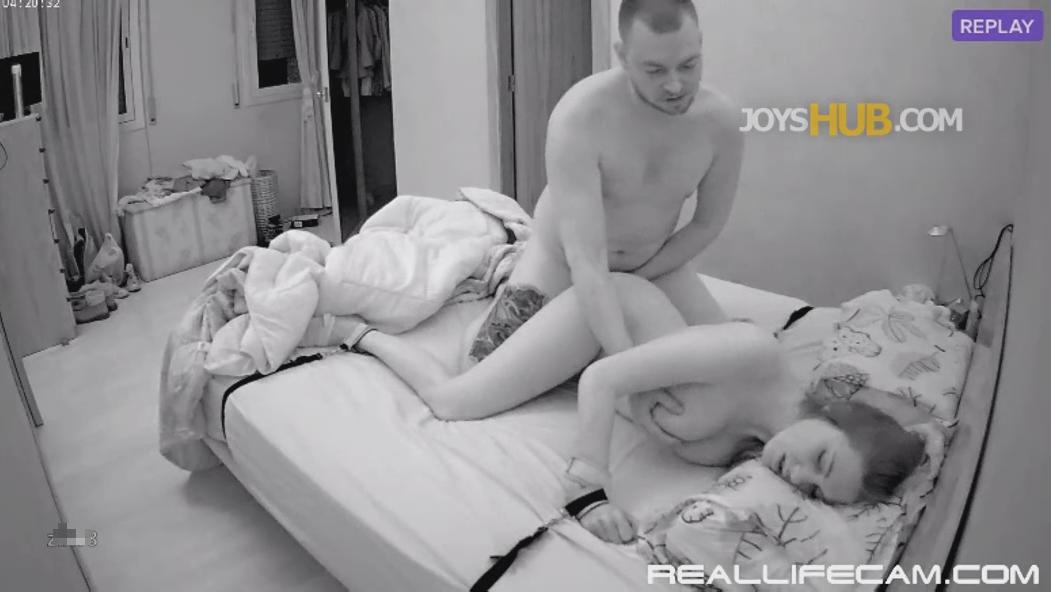 RealLifeCam Martina and Alberto Couple Fantasies HARD Fuck