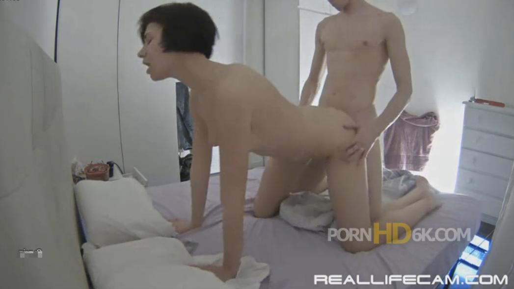 RealLifeCam Mira and Kai Hard Doggy Sex in Bedroom