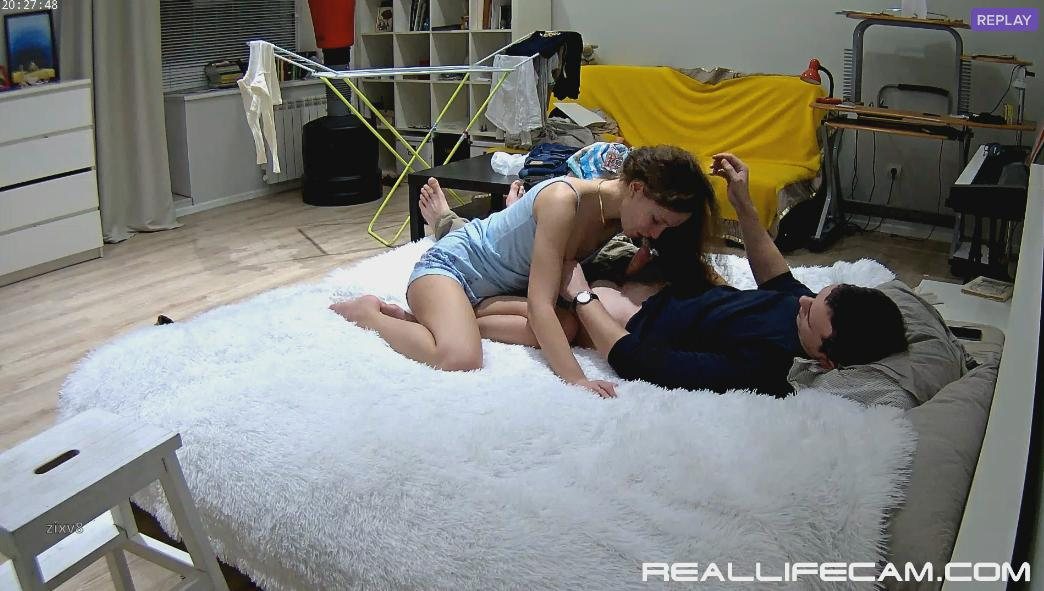 RealLifeCam Eva and Sam Passionate Blowjobs