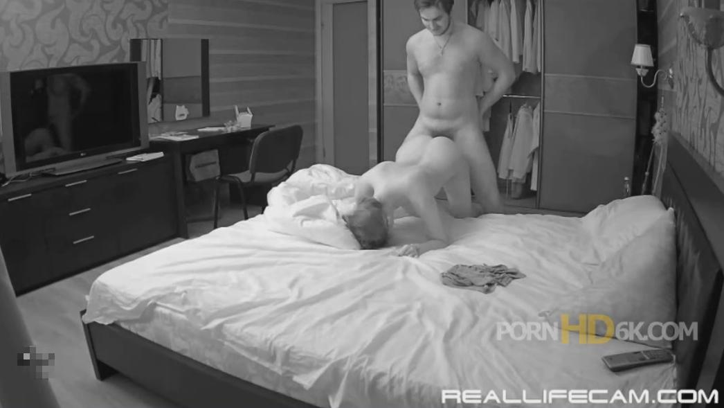 RealLifeCam Lana and Robert Rough Doggy Fuck in Bedroom