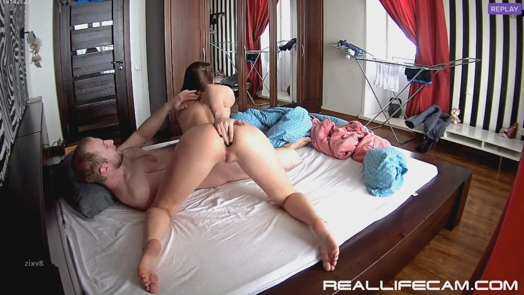 RealLifeCam Leora and Paul Oral Sex! begs for Cum in Mouth!