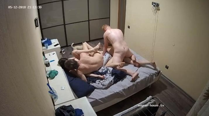 Lola and Otto Teenager Voyeur 4some Orgy in Bedroom at Voyeur House HD videos
