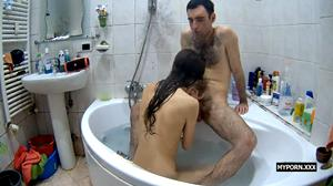 Reallifecam Sasha and Dasha Blowjobs in the Bathroom