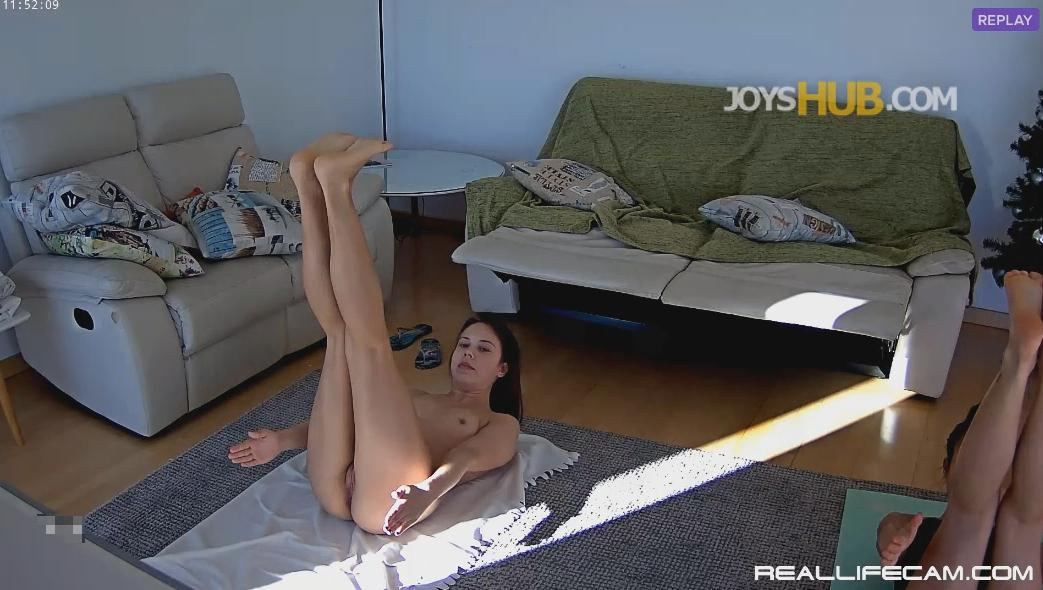 RealLifecam Neia and Nicole Hot Naked Teen Yoga Workout Part 1