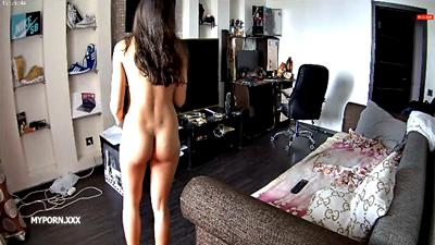 RealLifeCam Adeline Sexy Naked Teen in the livingroom