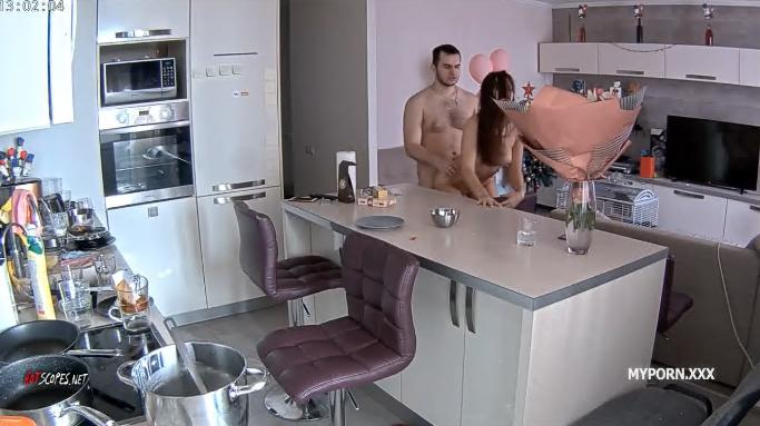 Lana and Robert Sex in the livingroom