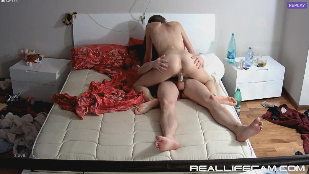 RealLifeCam Anabel and Efim Missionary and Riding HARD Fuck