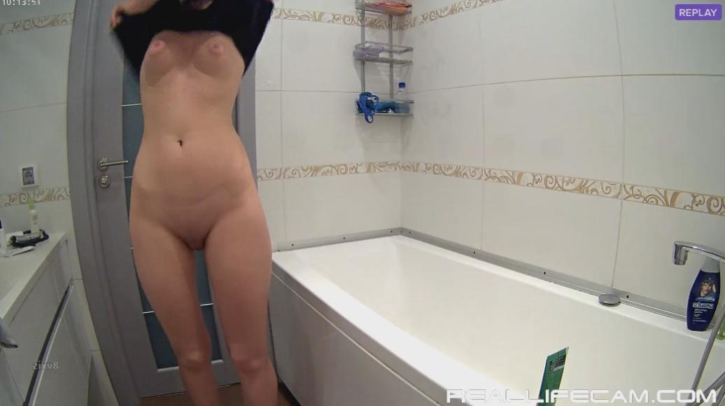 RealLifeCam Mira and Kai Sexy nude TEEN Shower