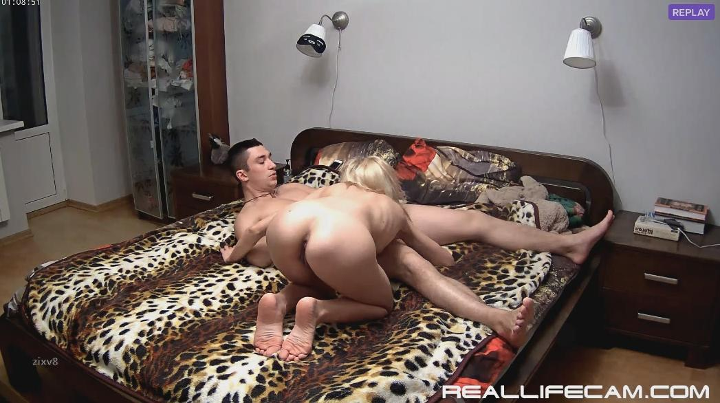 RealLifeCam Nelly and Bogdan Passionate Suck and Fuck in Bedroom