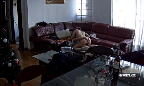 Martina and Alberto Suck, Fucked in livingroom