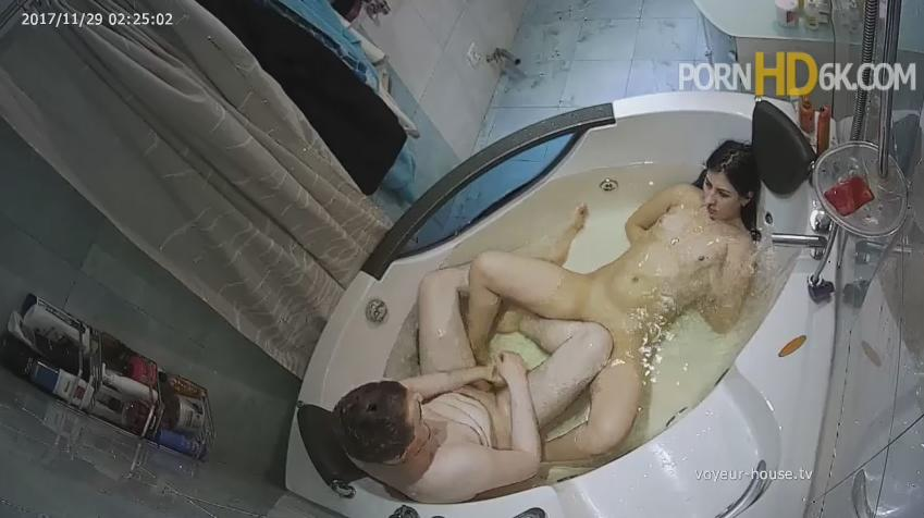 Anastasia and Rock late bath Naked Couple in Jacuzzi at Voyeur House HD videos