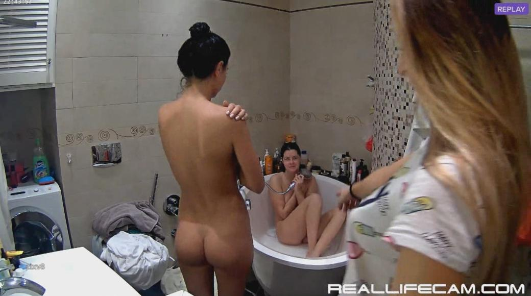 RealLifeCam Rosemary Sexy Nude Teen Shower in Bath