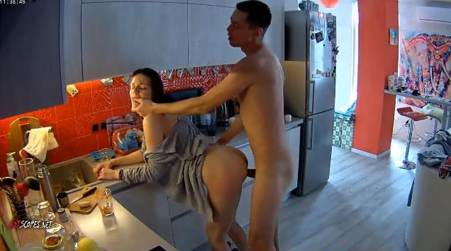 RealLifeCam Jane and Dick gets Fucked in the kitchen