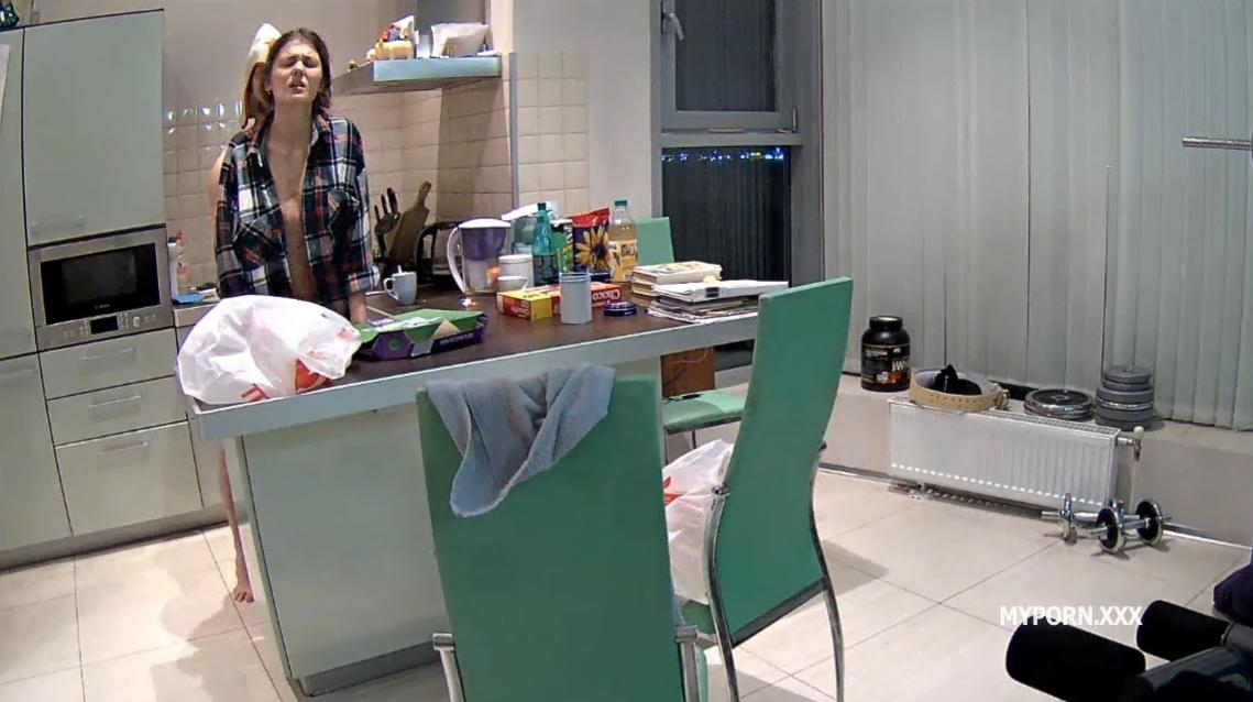 RealLifeCam Anabel and Efim Sex in Kitchen