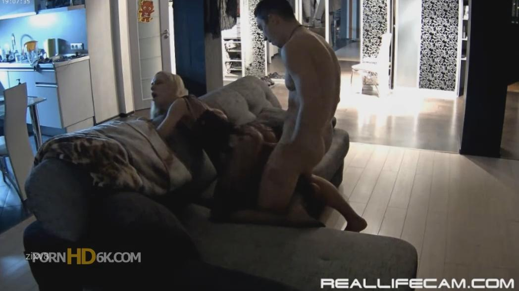 RealLifeCam Nelly and Bogdan Hot Body Stockings Curvy Girl HARD FUCK