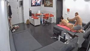 RealLifeCam Blair and Mike Ass Massage in the livingroom