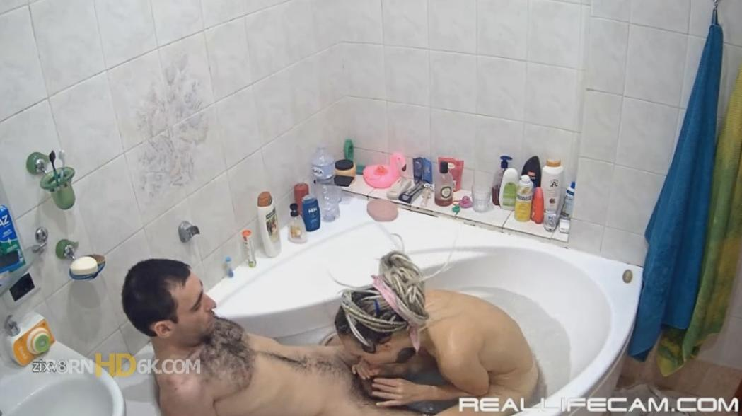 RealLifeCam Masha and Sasha Shower and Hot Blowjobs