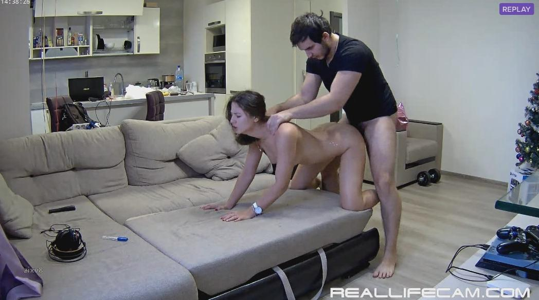 RealLifeCam Lana and Robert HD Hardcore Sex in Living Room