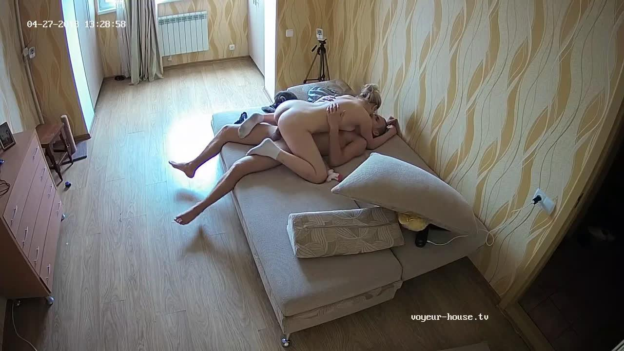 Jeff and Violet afternoon quickie Hard fuck in Living room at Voyeur House HD videos